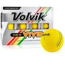 Volvik Vivid Matte Yellow Custom Logo Golf Balls