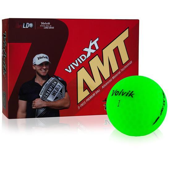 Volvik Vivid XT AMT Logo Matte Green Golf Balls