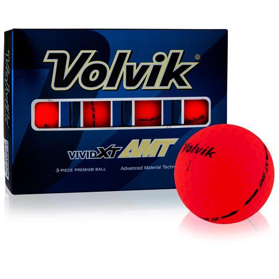Volvik Vivid XT AMT Matte Red Golf Balls