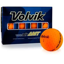 Volvik Vivid XT AMT Matte Sherbet Orange Golf Balls