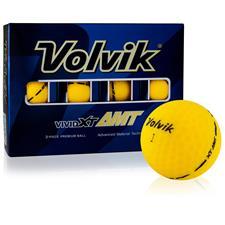 Volvik Vivid XT AMT Matte Yellow Golf Balls