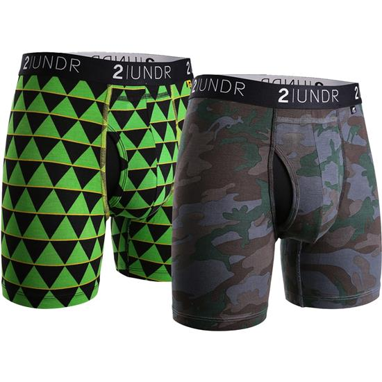 2UNDR Men's Swing Shift Pattern Boxer Brief