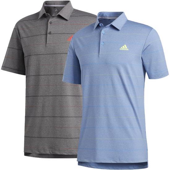 Adidas Men's Ultimate365 Heathered Stripe Polo Shirt