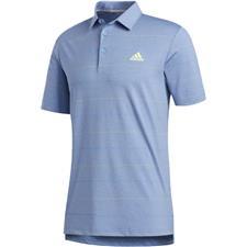 Adidas Trace Royal Mel-Solar Yellow-Light Blue Ultimate365 Heathered Stripe Polo Shirt