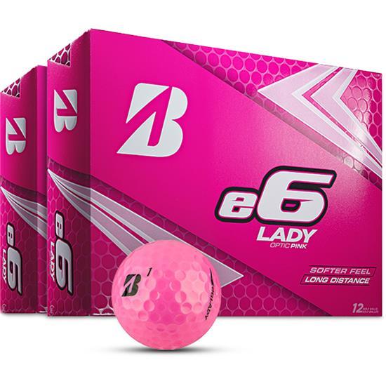 Bridgestone e6 Lady Pink Golf Balls - 2 Dozen