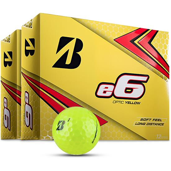 Bridgestone e6 Yellow Golf Balls - 2 Dozen