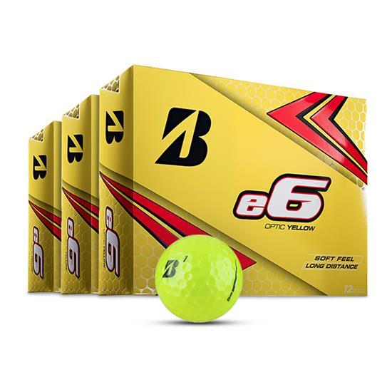 Bridgestone e6 Yellow Golf Balls - Buy 2 DZ Get 1 DZ Free
