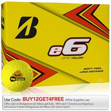 Bridgestone e6 Yellow Custom Logo Golf Balls