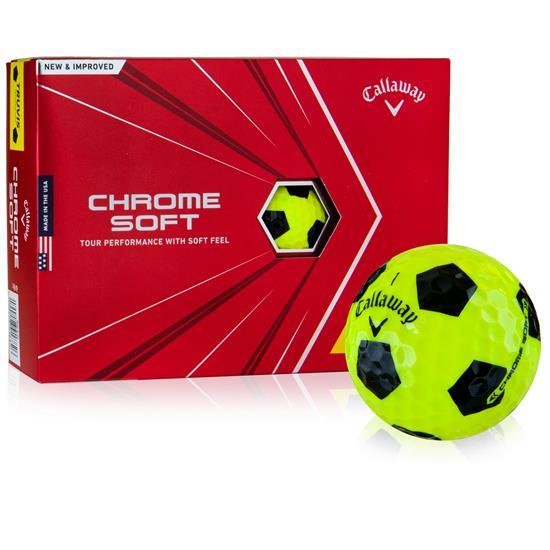 Callaway Golf 2020 Chrome Soft Yellow TruVis Golf Balls