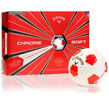 Callaway Golf 2018 Chrome Soft Truvis Red Golf Balls