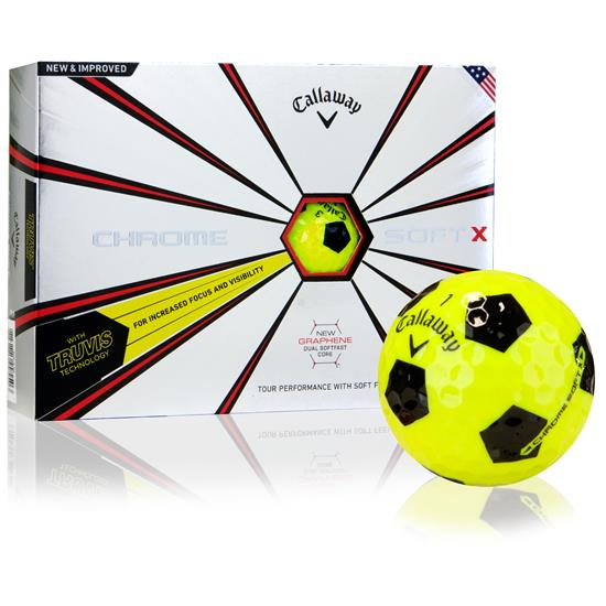 Callaway Golf 2018 Chrome Soft X Truvis Yellow Golf Balls