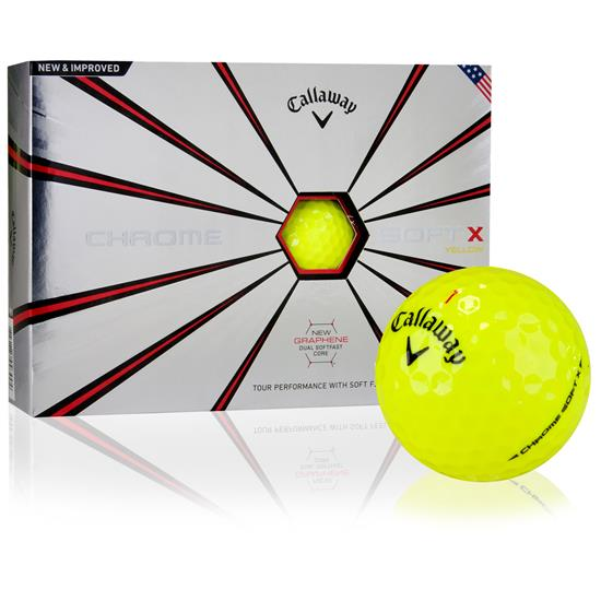Callaway Golf 2018 Chrome Soft X Yellow Golf Balls