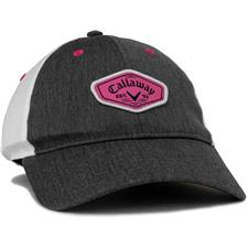 Callaway Golf Heathered Adjustable Hat for Women - Charcoal-White-Pink