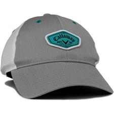 Callaway Golf Heathered Adjustable Hat for Women - Charcoal-White-Teal