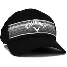 Callaway Golf Men's Stripe Mesh Personalized Hat - 2020 Model - Black-White-Grey