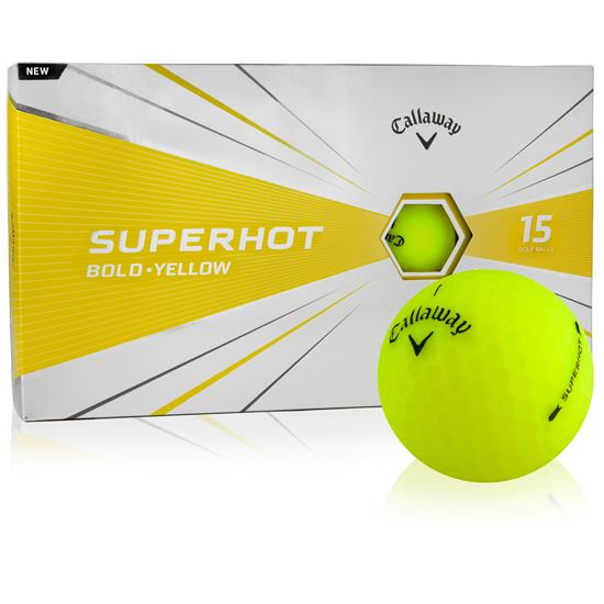 Callaway Golf Superhot Yellow Golf Balls - 15-Ball Pack