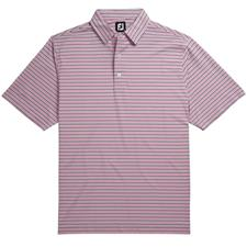 FootJoy Men's Lisle Multi Mini Stripe Self Collar Polo