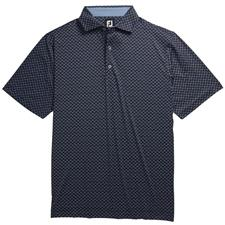 FootJoy Men's Lisle Ogee Print Spread Collar Polo