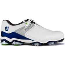 FootJoy White-Navy Tour X Golf Shoes
