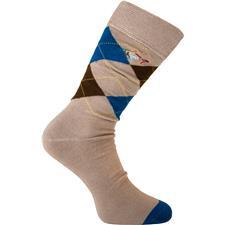 Greg Norman Men's Argyle Crew Socks - Khaki