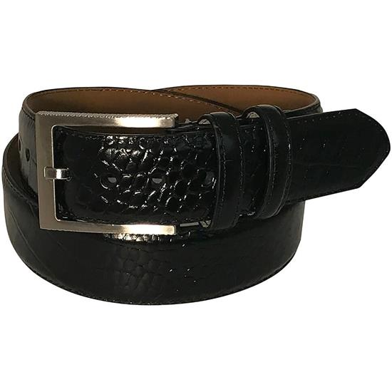Greg Norman Croco Print Leather Belt