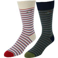 Greg Norman Men's Multi Stripe Crew Socks