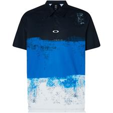 Oakley Uniform Blue Color Block Shade Polo
