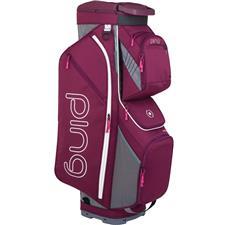 PING Traverse Cart Bag for Women - Garnet-Heathered Grey