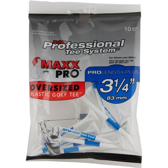 Pride Sports MaxxPro PTS Plastic 3-1/4 Inch Golf Tees