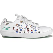 Skechers White-Blue Go Golf Drive-Dogs At Play Shoes for Women