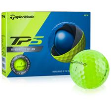 Taylor Made Custom Logo Prior Generation TP5 Yellow Golf Balls