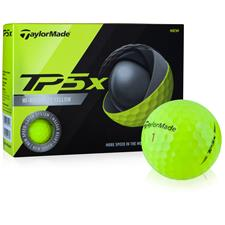 Taylor Made Prior Generation TP5x Yellow Custom Logo Golf Balls