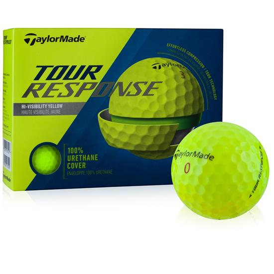 Taylor Made Tour Response Yellow Golf Balls