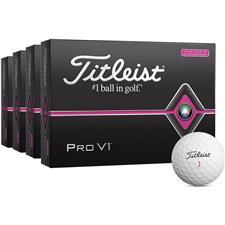 Titleist Pro V1 Pink Golf Balls - Buy 3 DZ Get 1 DZ Free