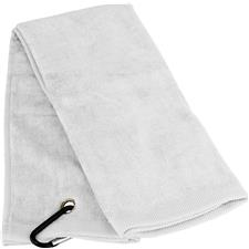 Tri-Fold Personalized Golf Towel - White