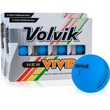 Volvik Vivid Matte Blue Golf Balls - 2 Dozen