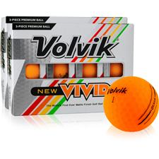 Volvik Vivid Matte Orange Golf Balls - 2 Dozen