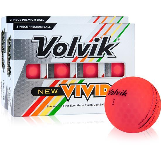 Volvik Vivid Matte Pink Golf Balls - 2 Dozen
