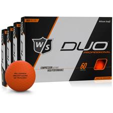 Wilson Staff DUO Professional Orange Golf Ball - Buy 3 Get 1