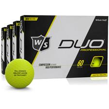 Wilson Staff DUO Professional Yellow Golf Ball - Buy 3 Get 1