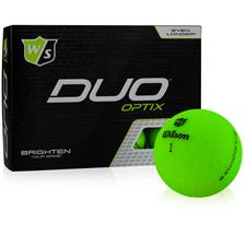 Wilson Staff Duo Soft Optix Green Golf Balls - 2020 Model