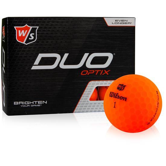 Wilson Staff Duo Soft Optix Orange Golf Balls - 2020 Model