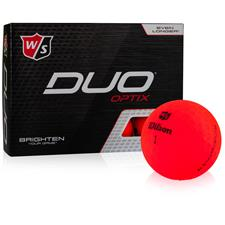 Wilson Staff Duo Soft Optix Red Golf Balls - 2020 Model