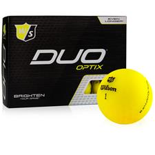 Wilson Staff Duo Soft Optix Yellow Golf Balls - 2020 Model