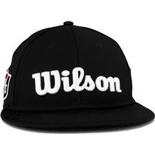 Wilson Staff Men's Tour Flat Brim Hat - Black
