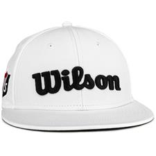 Wilson Staff Men's Tour Flat Brim Hat - White