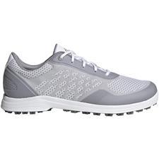 Adidas White-Glory Grey-Silver Metallic Alphaflex Sport Golf Shoes for Women