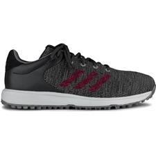 Adidas Grey Three-Collegiate Burgundy-Grey Six S2G Golf Shoes