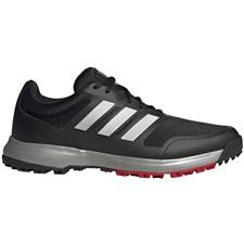 Adidas Core Black-Silver Metallic-Scarlet Tech Response Spikeless Golf Shoes