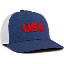 Adidas Men's USA Golf Trucker Hat - Dark Blue-Grey Three